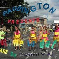 50 years Elimu Paddington Arts anniversary. Celebrated by a few members by holding colourful letters in the air.