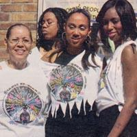 Press cutting about a young girl, being part of the Notting Hill Carnival and her family supporting her. It includes a picture of them.