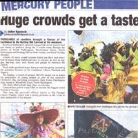 Press cutting about the Children's Day during the Notting Hill Carnival and the caribbean feeling the spread. Four pictures of this event are added.
