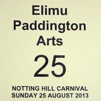 Elimu Paddington Arts Carnival Pass for the Notting Hill Carnival on the 25th of August 2013.