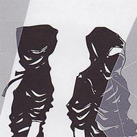 poster of two figures wearing black hooded costumes