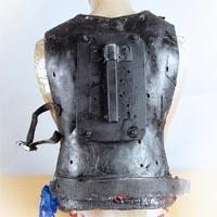 Black backplate with a belt around the hips.