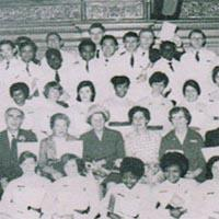 a press cutting showing photos of black nurses