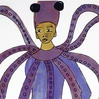 design darwing of octopus costume